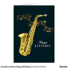 Saxophone Music Happy Birthday
