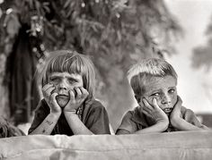 Dust bowl kids, 1936. Man, children shouldn't look like that... By Dorothea Lange.