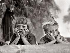Dust bowl kids, 1936. Man, children shouldn't look like that... By Dorothea Lange.