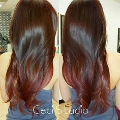 Refresh from five month old ombre to a nice scarlet red ombre