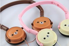 Rock out with Rilakkuma.(That is not right because rilakkuma means relax so the sentence would say Rock out with relax if you speak japan I think.Sorry I talk too much. Rilakkuma, All Things Cute, Things To Buy, Stuff To Buy, Kawaii Shop, Kawaii Cute, Kawaii Style, Cute Headphones, Kawaii Accessories