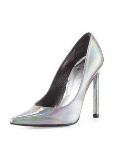 Stuart Weitzman Queen iridescent pump
