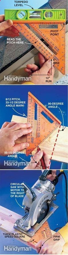 Start your Carpentry Business - How to use your speed square www. Start your Carpentry Business - Discover How You Can Start A Woodworking Business From Home Easily in 7 Days With NO Capital Needed! Woodworking Techniques, Woodworking Projects Diy, Diy Wood Projects, Woodworking Tools, Wood Crafts, Intarsia Woodworking, Woodworking Furniture, Furniture Plans, Furniture Making