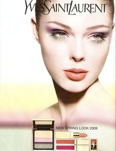 Coco Rocha – Canadian model, best known for her expressive mime and gestures. Coco Rocha is often named Queen of Posing. Vintage Ysl, Vintage Makeup, Vintage Beauty, Yves Saint Laurent, Saint Yves, Modern Renaissance Palette, Ysl Beauty, Iconic Beauty, Makeup Ads