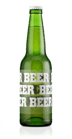 3D visualization, render, beer, green, bottle, package, design