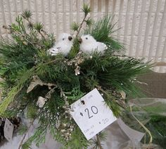 Mid Island Floral Art Club in Qualicum Beach B.C. Canada, hosted a Christmas Gala, this is a item that the members made that were sold at the Christmas Gala 2015