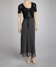 Take a look at this Black Dress & Crocheted Cardigan by Jessica Howard on #zulily today! $39.99, regular 99.00