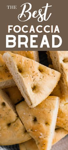 Easy Focaccia Bread Recipe - So good with just a few ingredients that you probably have on hand! #focaccia #bread #recipe #easy