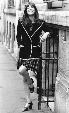 Jane Birkin in Yves Saint Laurent Spring 1971 couture