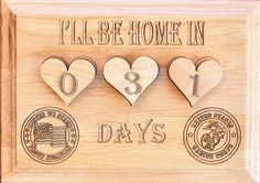 Military Calendar Count Down US Army Reserve by JennysFrameworks, $30.00