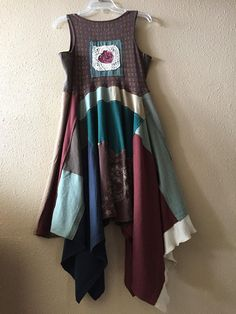 Upcycled Paisley Patchwork Boho Chic Gypsy Tank Dress