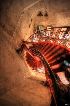 Downward Spiral – Looking down from the top of the Belltower in Zadar, Croatia.