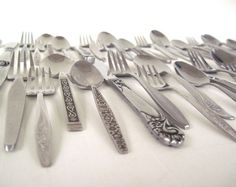 Eclectic Stainless Flatware Set Mid Century by LaurasLastDitch, $46.99