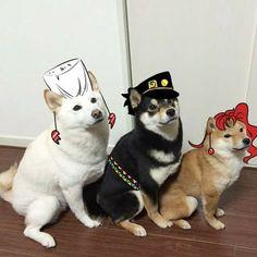 Polnareff, Jotaro and Kakyoin