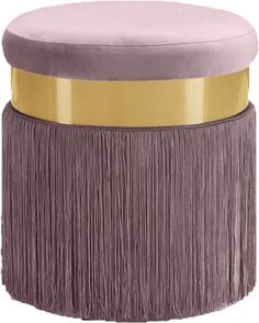 Yasmine Velvet Ottoman/Stool - Contemporary - Footstools And Ottomans - by Meridian Furniture Pink Ottoman, Ottoman Footstool, Upholstered Ottoman, Round Ottoman, Ottomans, Dressing Table Colour, Dressing Table With Stool, Makeup Stool, Velvet Stool