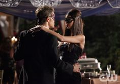 """Masquerade"" - Paul Wesley as Stefan, Nina Dobrev as Elena / Katherine in THE VAMPIRE DIARIES on The CW.  Photo: Quantrell D. Colbert/The CW  �2010 The CW Network, LLC. All Rights Reserved.pn"