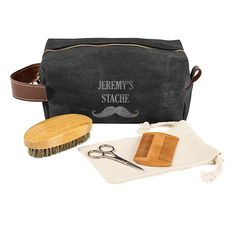 The Groomsmen Waxed Canvas and Leather Dopp Kit with Beard Grooming Set is the perfect attendant gift. The toiletry bag features a water-resistant wax cov Birthday Gift Baskets, Happy Birthday Gifts, Best Groomsmen Gifts, Groomsman Gifts, Gift Baskets For Women, Gifts For Women, Waxed Canvas, Canvas Leather, Beard Grooming Kits