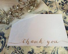 Modern Calligraphy Thank You Card // 4.25 x 5.5 door moonlitdesignco