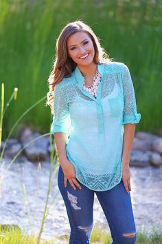 Great Expectations Top - Mint from Closet Candy Boutique