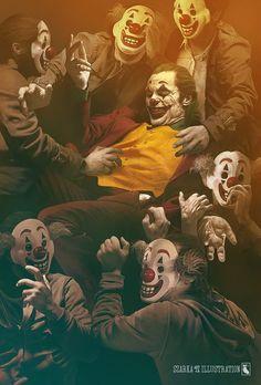 joker (art by szarka art) Joker Comic, Joker Batman, Logo Batman, Bale Batman, Joker Film, Joker Art, Comic Art, Batman Cartoon, Funny Batman