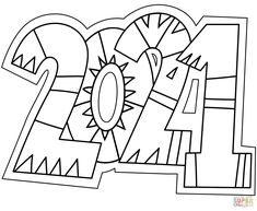 New Year Coloring Pages, Colouring Pages, Coloring Sheets, Coloring Books, Coloring Worksheets, New Years Activities, Valentine Activities, Doodle Coloring, Free Coloring