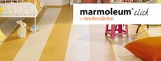 Cute, colorful and sustainable linoleum flooring from Marmoleum Click collection. Oh, and it's super east to install.