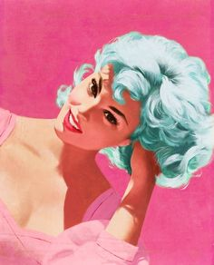 Cotton candy colored vintage. | More pastel lusciousness here: http://mylusciouslife.com/prettiness-luscious-pastel-colours/