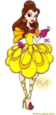MH Disney: Belle by Xibira.deviantart.com on @deviantART