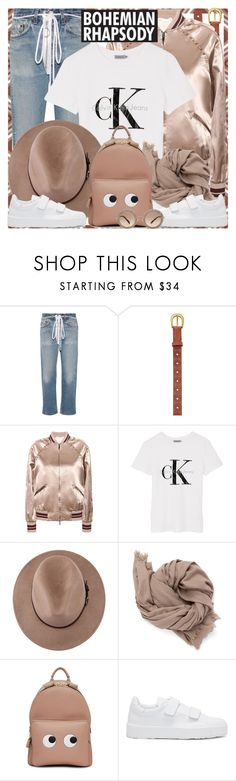 """""""Style's Tip: How to wear a Satin Bomber?"""" by marymary91 ❤ liked on Polyvore featuring Off-White, FOSSIL, Valentino, Calvin Klein, Anya Hindmarch, Jil Sander and Miu Miu"""