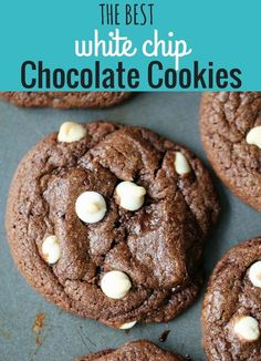 The Best Triple Chocolate Chip Cookies. White Chip Chocolate Cookies Recipe. How to make Paradise Bakery Panera Black and White Chippers. www.modernhoney.com #blackandwhitechippers #chocolatecookies #cookies #whitechipchocolatecookies #chocolate