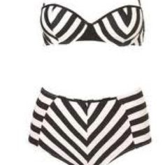 Shop the hottest swimwear & beachwear at Topshop. Cut-out swimsuits and mix & match bikini separates exude holiday-cool. The Bikini, Push Up Bikini, Striped Bikini, Navy Bikini, Black Bandeau, White Swimsuit, Swimsuit Tops, Vintage Bathing Suits, Black And White