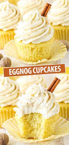 Christmas Cupcakes, Christmas Sweets, Christmas Cooking, Holiday Desserts, Holiday Baking, Just Desserts, Winter Cupcakes, Easy Christmas Baking Recipes, Christmas Cupcake Flavors