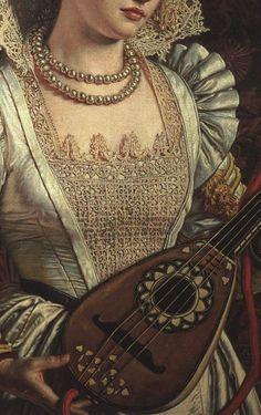 Bianca By William Holman Hunt (British 1827-1910) #Art #Detail