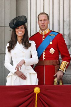 Kate Middleton and Prince William Her hat is very delightful! I love it