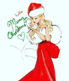 Ikke så dårligt fra en pin up tøs. Christmas Sketch, Christmas Drawing, Christmas Love, Christmas And New Year, Vintage Christmas, Merry Christmas, Xmas, Christmas Quotes, Christmas Pictures