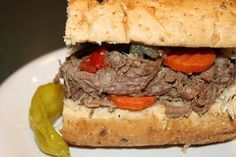 My absolute favorite crock pot Italian Beef - yummy, yummy!  Made this tonight, and my husband LOVED it.  Make this!