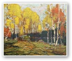 Quality print by Group Of Seven artist Tom Thomson - Fall Woods; Made In Canada. Group Of Seven Artists, Group Of Seven Paintings, Canadian Painters, Canadian Artists, Landscape Art, Landscape Paintings, Impressionist Paintings, Abstract Paintings, Oil Paintings