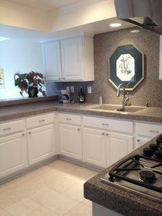 Kitchen after Granite Transformations - back splash on full wall?