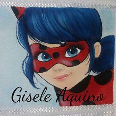 Pintura LadyBug, toalha de lavabo