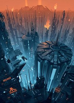 The Geeky Nerfherder: #CoolArt: 'Future Cityscape' by Brian Taylor