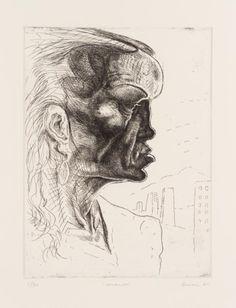 Title: Amanda Dimensions: 33 x 24.5 cm, Medium: Etching on Paper Date: 1987