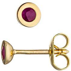 Cufflinks, Accessories, Medium, Fashion, Red Earrings, Ear Jewelry, Stud Earring, Fashion Women, Moda