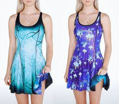Midnight Forest Vs So Cute I Could Die Inside Out Dress – PRESALE ($170AUD) by BlackMilk Clothing
