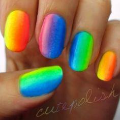 Cutepolish rainbow nails