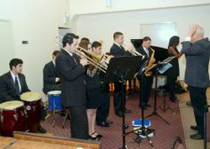 Musicians of the Latin Jazz Youth Ensemble, with director John Calloway, performing at the MLK2014 Labor and Community Breakfast