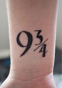 Harry Potter Platform 9 3/4 Tattoo. Would you?