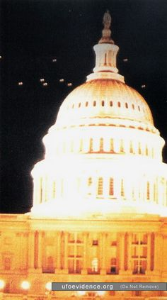 The Washington D.C UFO incident . This actually happened http://en.wikipedia.org/wiki/1952_Washington,_D.C._UFO_incident