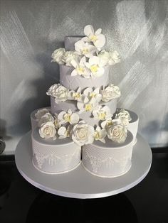 Wedding cake with sugar Orchids Cakepops, Cupcake Cookies, Cupcakes, Cookie Pie, Cheesecakes, Amazing Cakes, Orchids, Wedding Cakes, Muffins