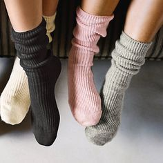 Buy Clothing > Slippers > Cashmere Bed Socks from The White Company