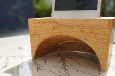 Carved wood iPhone speaker. Elegant Iphone accessory by EOSDesign